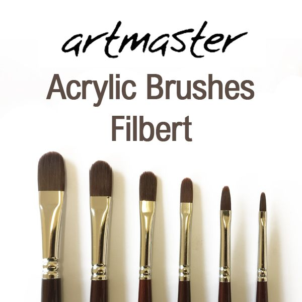 Artmaster Acrylic Paint Brushes Filbert Series 62