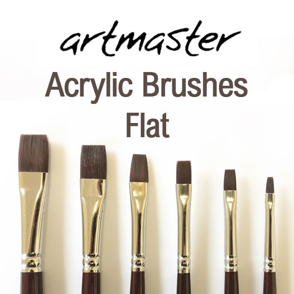 Artmaster Acrylic Paint Brushes Flat Series 61