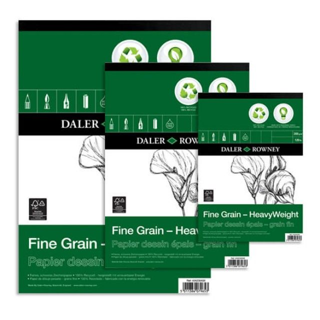 Daler Rowney Fine Grain Eco Heavyweight Sketch Pad 200gsm