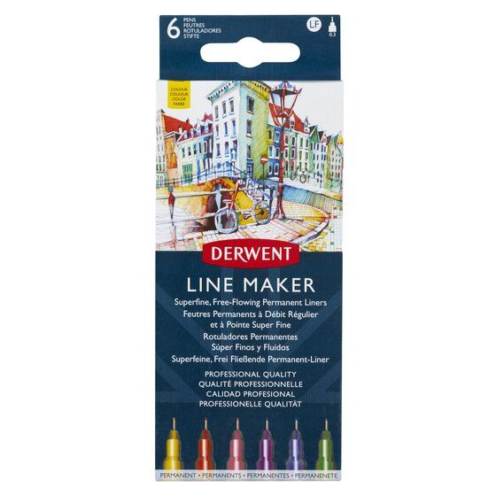 Derwent Line Maker Set of 6 Colours