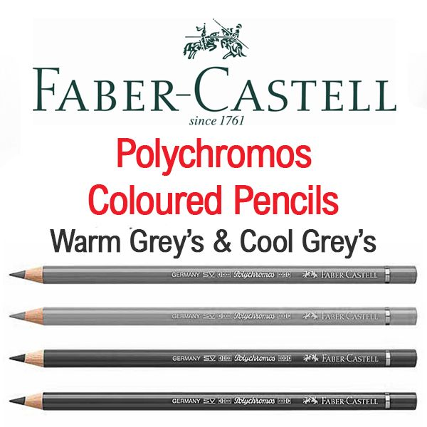Faber Castell Polychromos Artists Colour Pencils Warm Grey's & Cool Grey's
